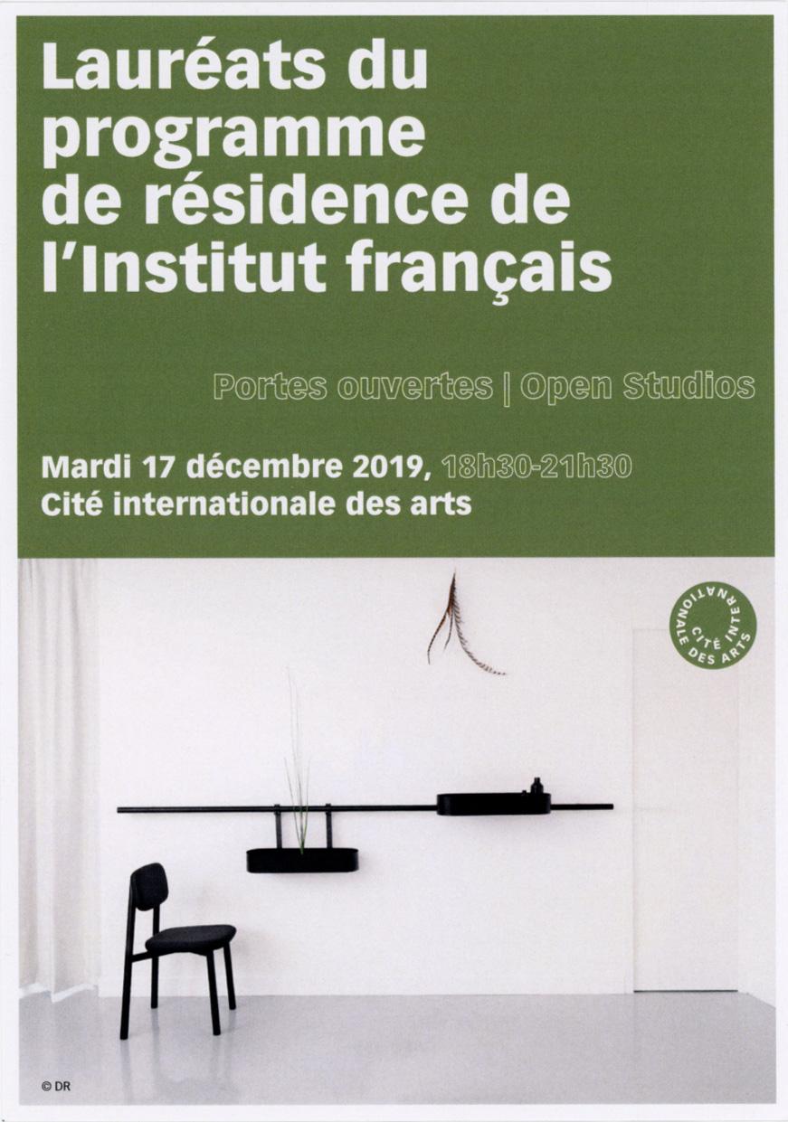 Artist Residency  Cite International des Arts, Paris